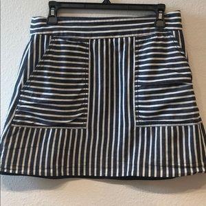 1 State Linen Blend Mini Skirt
